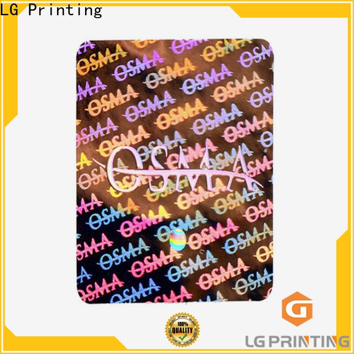 LG Printing Custom made china sticker manufacturers for cosmetics