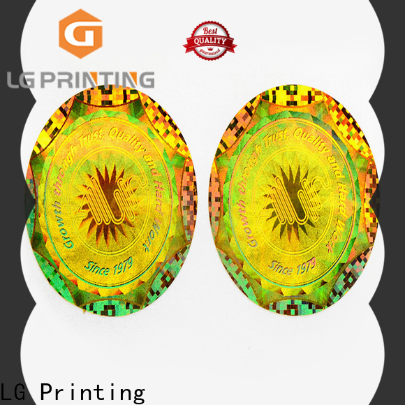 LG Printing scratch personalised hologram stickers cost for cosmetics