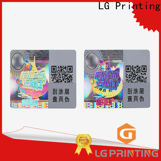 LG Printing gold print hologram stickers wholesale for electronics