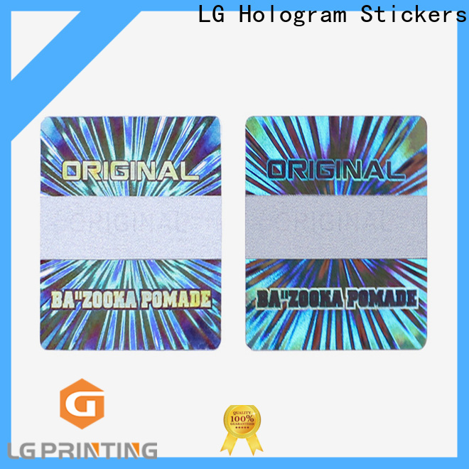 LG Printing Quality hologram stickers suppliers wholesale for cosmetics