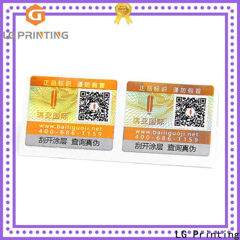 LG Printing tamper resistant labels price