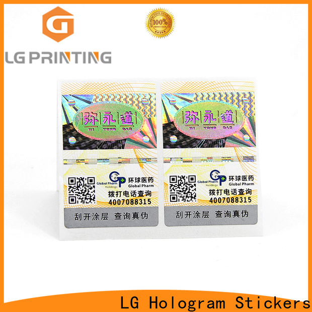 LG Printing Custom made self adhesive label sticker vendor