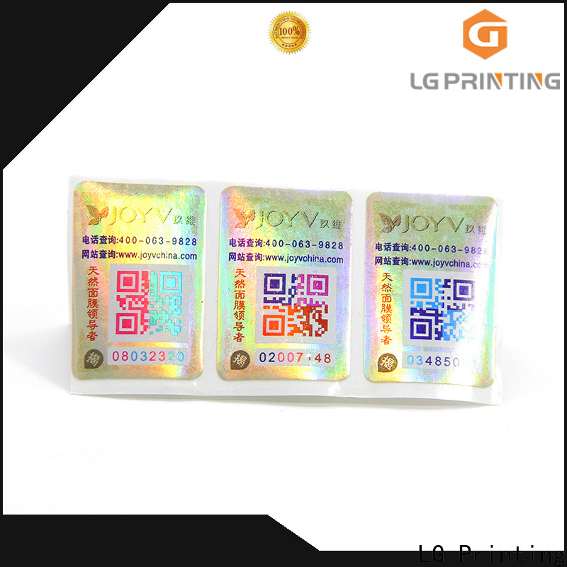 LG Printing Bulk brand security suppliers for goods