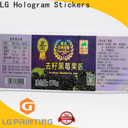 LG Printing Custom made holographic overlay stickers supply for metal box surface