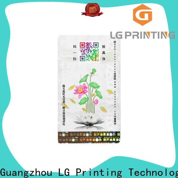 LG Printing Bulk hologram label printer manufacturers