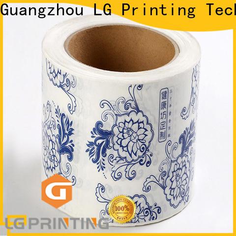 LG Printing gold bulk label printing manufacturers for bottle