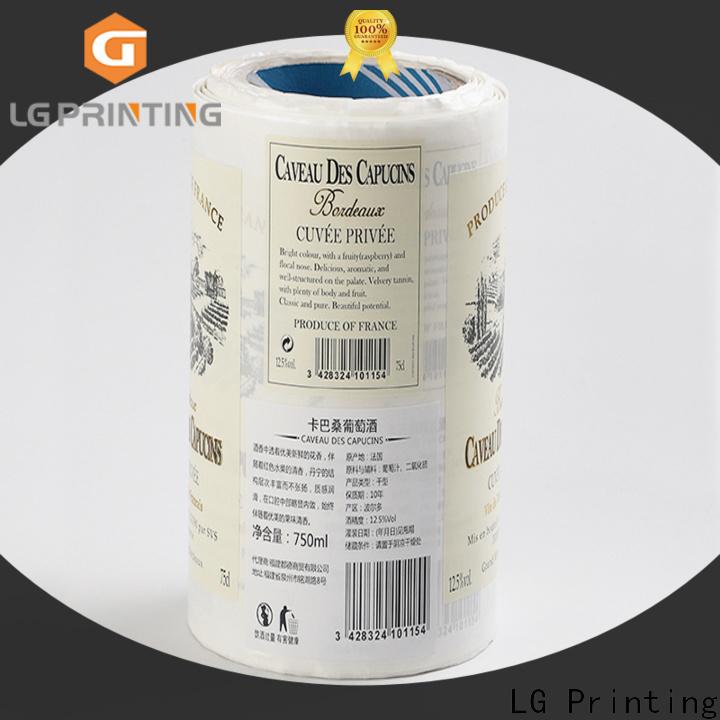 LG Printing Custom supply for wine bottle