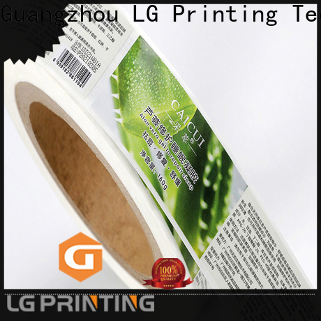 LG Printing Best wine bottle sticker labels supply for cans