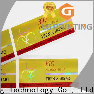 LG Printing High-quality gold hologram sticker vendor for metal box surface