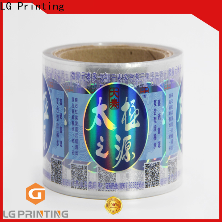 LG Printing Custom holographic alien sticker suppliers for package
