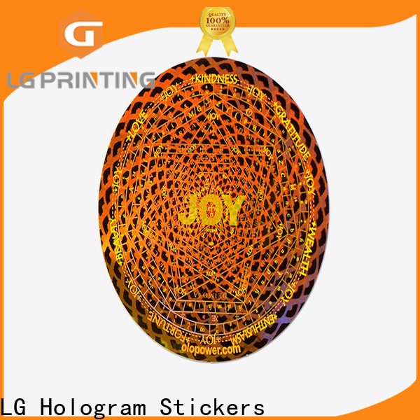 LG Printing golden manufacturers of security void stickers suppliers for garment hangtag