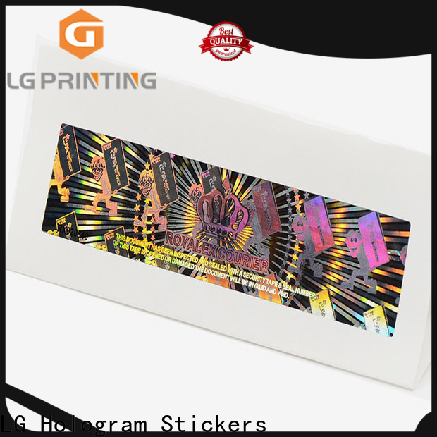 LG Printing one time holographic material wholesale for cosmetics