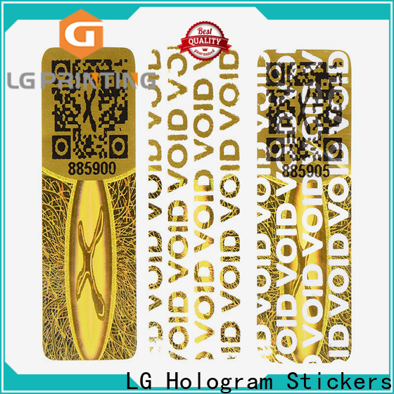LG Printing golden sticker quality for garment hangtag