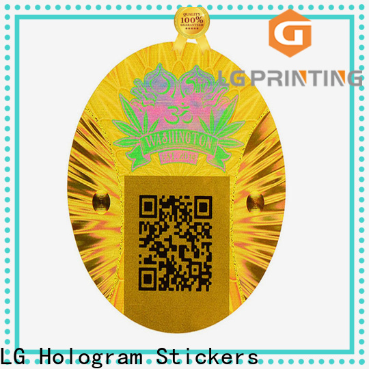 Custom made print hologram stickers at home numbering company for skin care products