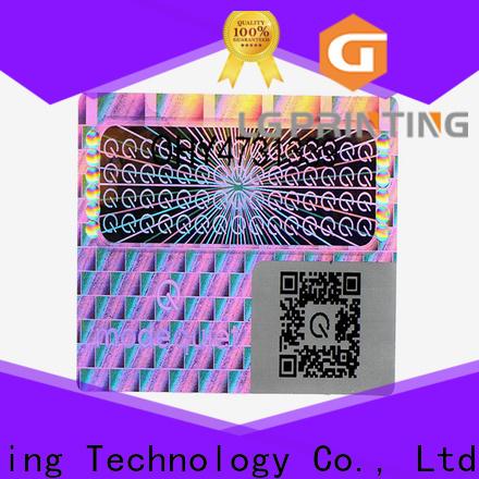LG Printing Custom wine bottle stickers factory for garment hangtag