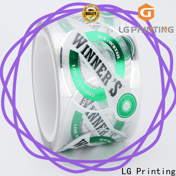 LG Printing foil bulk custom labels suppliers for cans