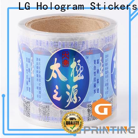 LG Printing Bulk custom adhesive labels factory price for jars