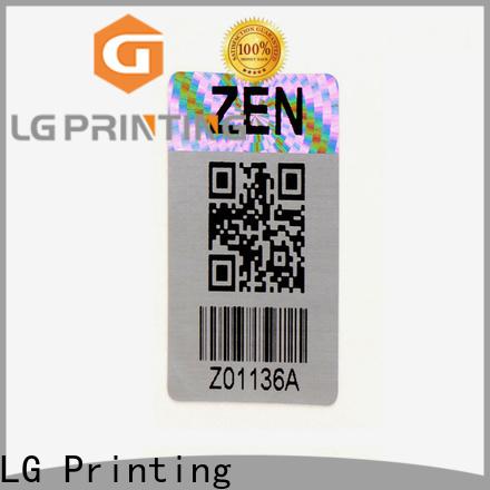 LG Printing numbering serial number sticker printing factory for garment hangtag