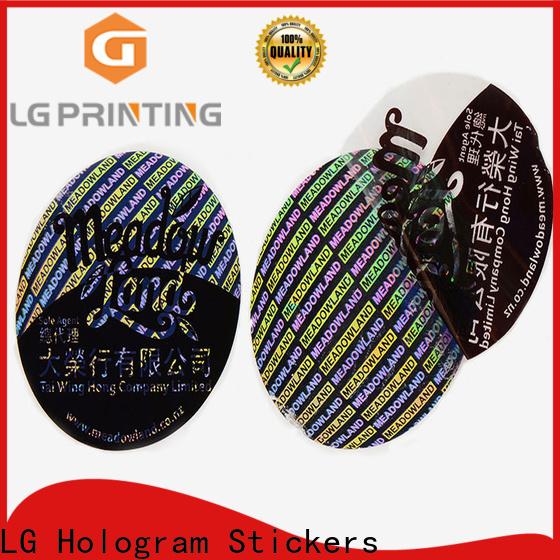 Customized bulk custom stickers void supply for garment hangtag