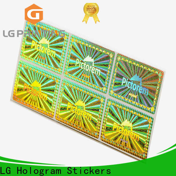 Customized silver hologram sticker golden for skin care products