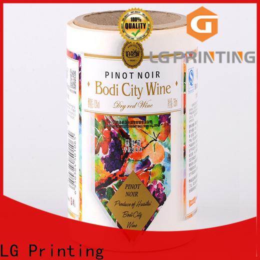 LG Printing foil adhesive printed labels factory for jars
