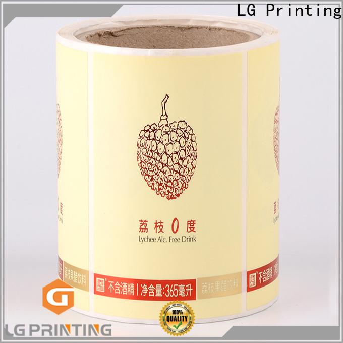 Custom made custom label printing gold wholesale for bottle