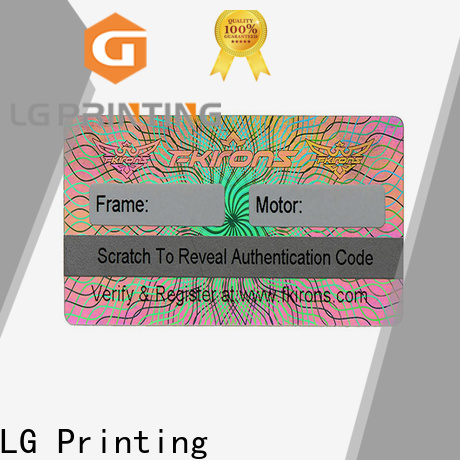 Customized security hologram stickers labels selfadhesive factory for skin care products