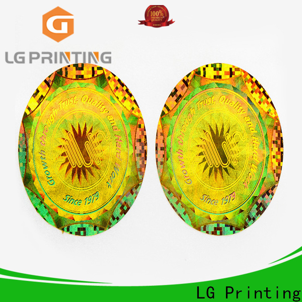 LG Printing Best personalized hologram stickers suppliers for cosmetics