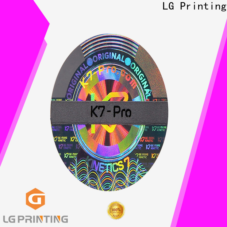 LG Printing Quality stiker hologram custom suppliers for electronics