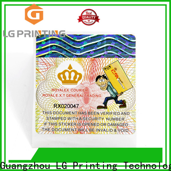 LG Printing holographic label manufacturers suppliers for goods