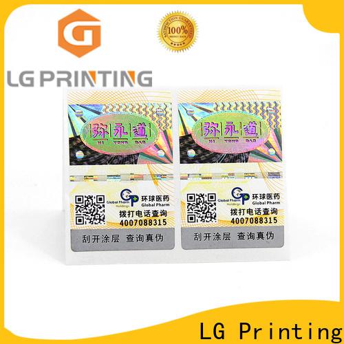 LG Printing Custom label self adhesive manufacturers