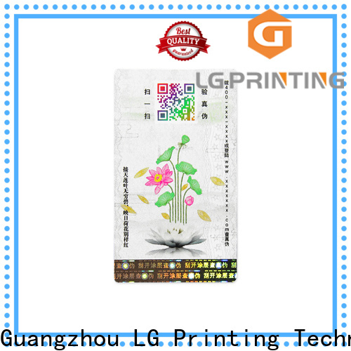 LG Printing stick on labels for jars suppliers for box