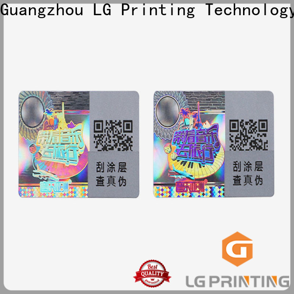 LG Printing silver lg stickers factory for garment hangtag