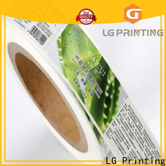 LG Printing pvc food packaging regulations cost for jars