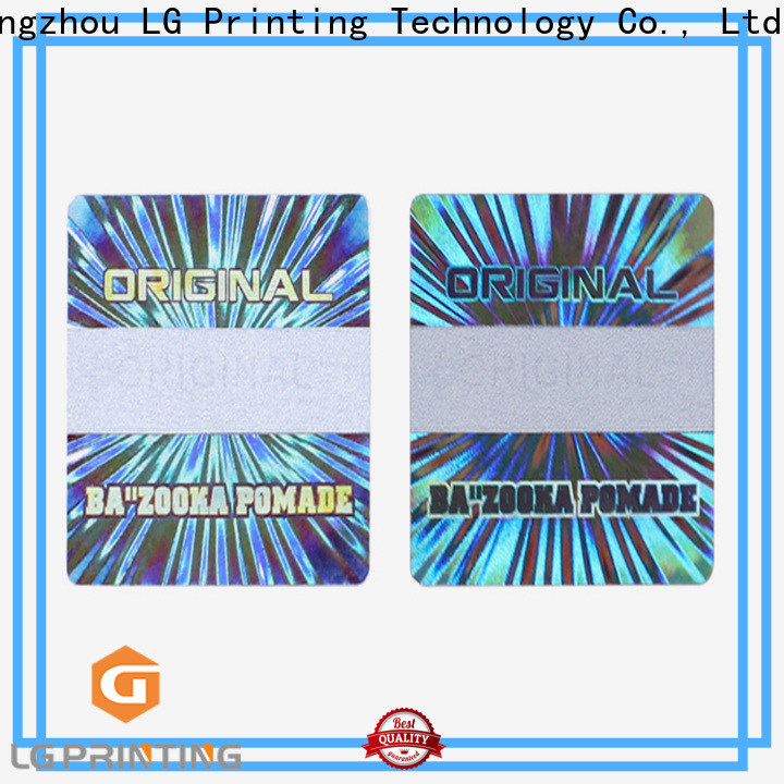 Quality big 3d hologram one time manufacturers for garment hangtag