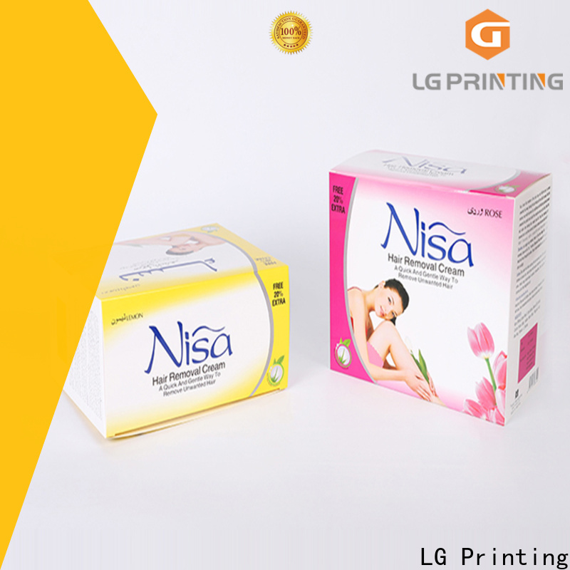 LG Printing personalised packaging boxes supply for retail package