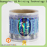 Quality custom holographic labels vendor for plastic box surface