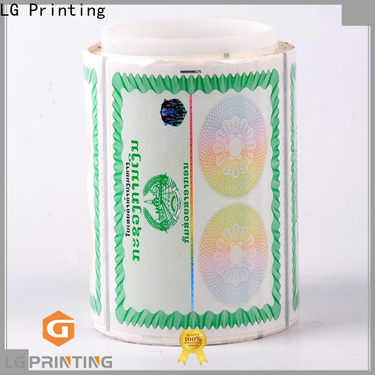 LG Printing stickers