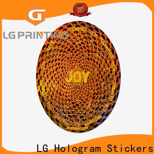 LG Printing gold foil transparent sticker suppliers for garment hangtag