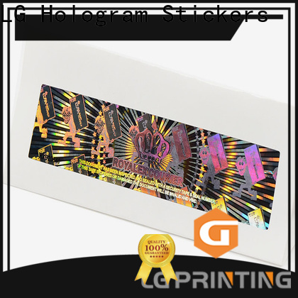 LG Printing barcode cusom serial number stickers factory price for garment hangtag