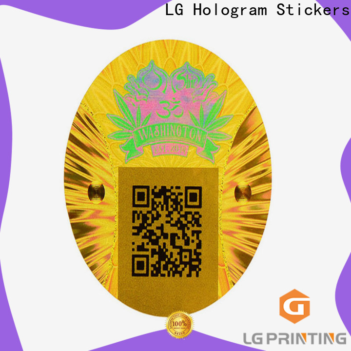 LG Printing Bulk id hologram stickers suppliers for cosmetics
