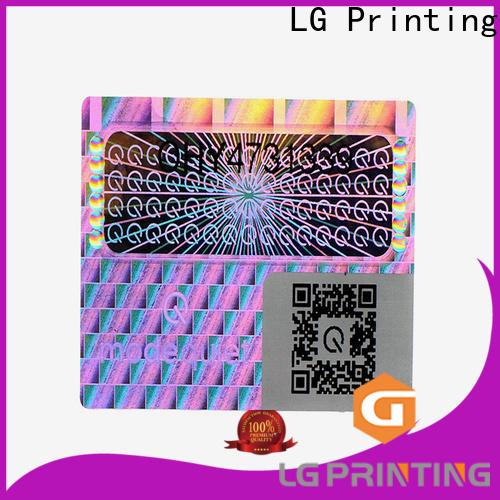 Custom made hologram sticker printing machine price one time for cosmetics