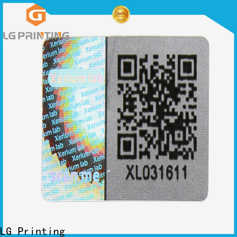 LG Printing Bulk print hologram stickers at home wholesale for electronics