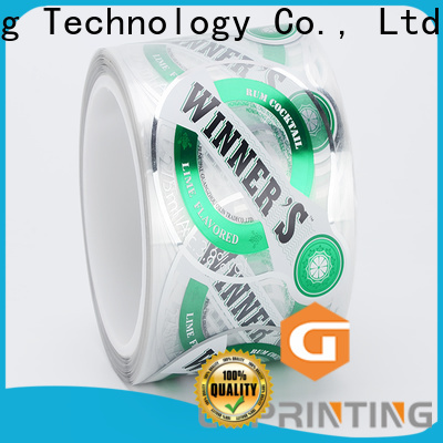 LG Printing Buy plastic stickers factory price for bottle