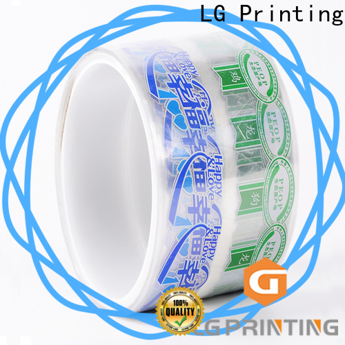 LG Printing silver vinyl stickers for wine bottles supply for jars
