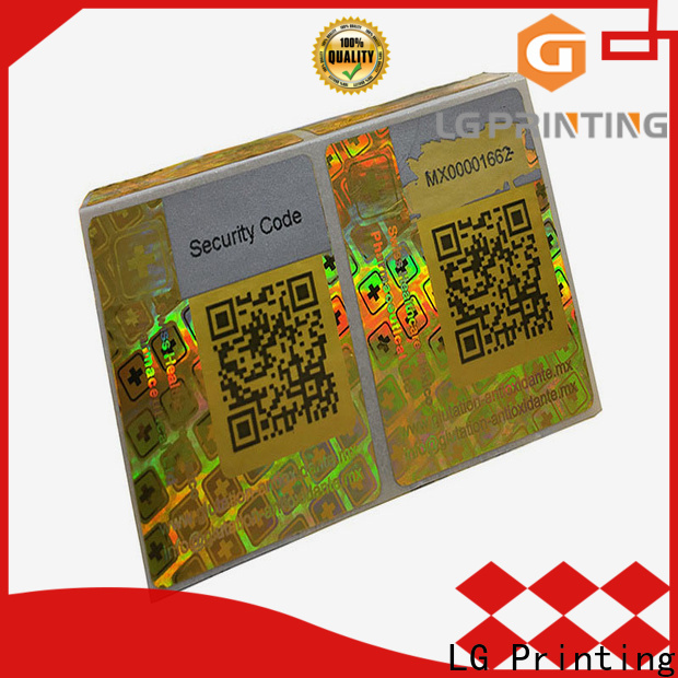 LG Printing scratch off hologram sticker 3d cost for cosmetics