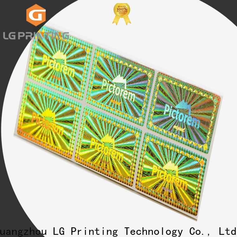 LG Printing Top holographic circle stickers vendor for garment hangtag