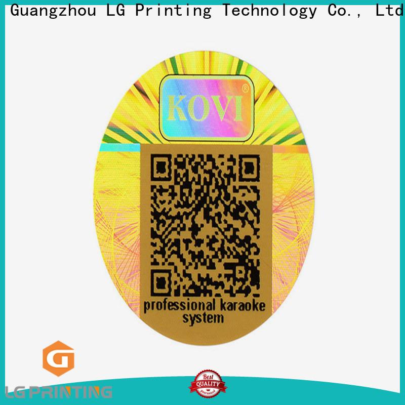 LG Printing golden hologram labels stickers vendor for pharmaceuticals