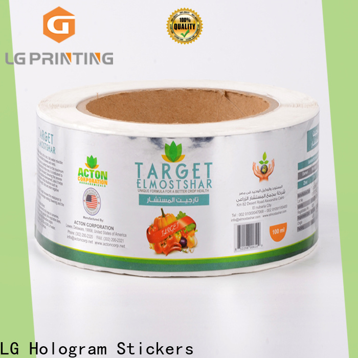 LG Printing custom self adhesive labels company for wine bottle