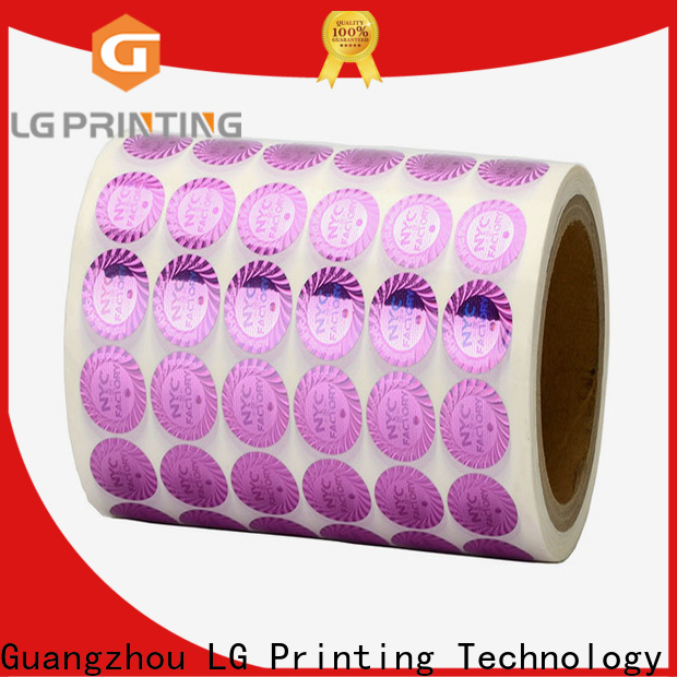 LG Printing hologram security label price for skin care products